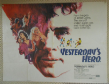 Yesterdays Hero, UK Quad Poster, Ian McShane, Suzanne Somers, Adam Faith, '79
